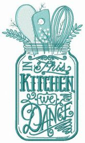 Kitchenware machine embroidery design