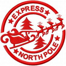 Stamp Express north pole