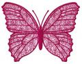 Blooming butterfly embroidery design