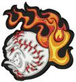 Angry baseball ball 3 embroidery design