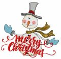 Ruddy snowman 2 embroidery design