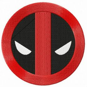 Deadpool road sign machine embroidery design