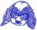 Smart puppy embroidery design