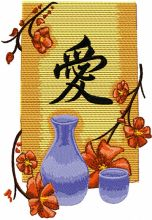 Oriental Vase with Flowers