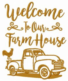 Welcome to our farm house machine embroidery design