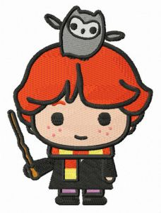 Ron Weasley with Pigwidgeon