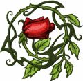 Wild Rose  embroidery design