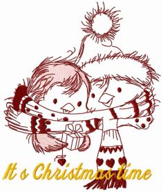 Penguin's Christmas time 6 machine embroidery design