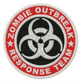 Zombie Outbreak Response Team logo machine embroidery design