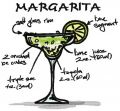 Margarita cocktail embroidery design