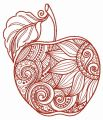 Mosaic apple 2 embroidery design