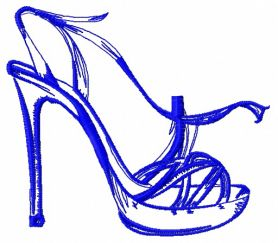 High heel shoe 5 machine embroidery design