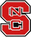 North Carolina State Wolfpack logo embroidery design