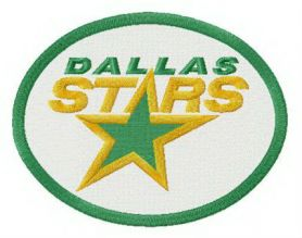 Dallas Stars logo machine embroidery design