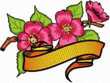 Apple Blossom Flower with Banner