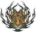 Tiger badge embroidery design