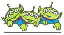 Little Green Men monogram