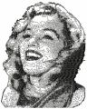 Marilyn Monroe free embroidery design 7