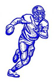 American football player 10 machine embroidery design