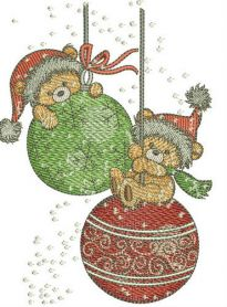 Christmas swings machine embroidery design