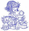 Girl's presents 3 embroidery design
