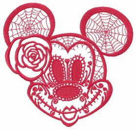 Halloween Minnie Mouse 2 machine embroidery design