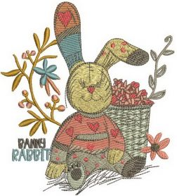Banny rabbit machine embroidery design