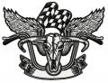 Biker's wings embroidery design