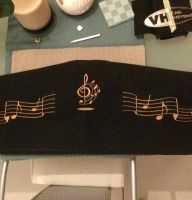 music panel with free embroidery design