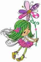 Little cute fairy with flower
