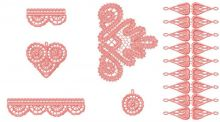 Battenburg lace set