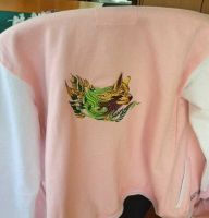 Hoody with Wolf spirit embroidery design