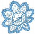 Blue flower lace free machine embroidery design