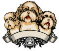 Dog's trio embroidery design