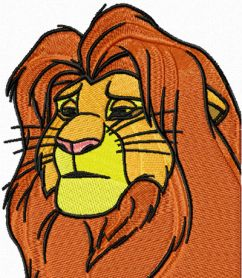 Lion King 1 machine embroidery design