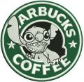 Starbucks coffee Stitch embroidery design