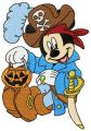 Mickey Mouse pirate costume embroidery design