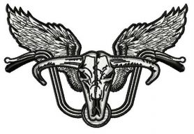 Biker's wings 3 machine embroidery design