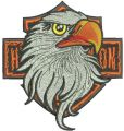 Harley Davidson Eagle logo 7 embroidery design
