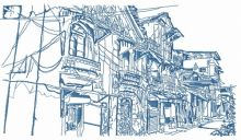 Old town sketch