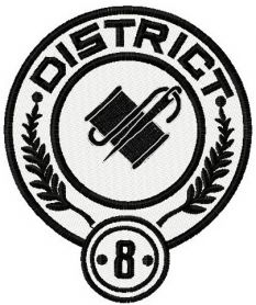 District 8 logo machine embroidery design
