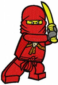 LEGO Ninjago Kai machine embroidery design