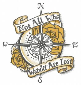 Not All Who Wander Are Lost  machine embroidery design