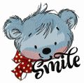 Teddy's smile embroidery design