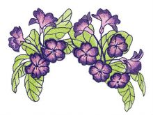 Violets wreath