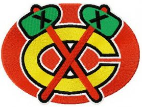 Chicago Blackhawks logo 2 machine embroidery design