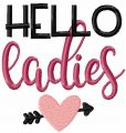 Hello ladies free embroidery design