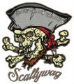 Scallywag embroidery design
