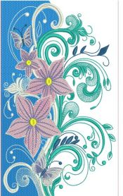 Night magic bouquet machine embroidery design
