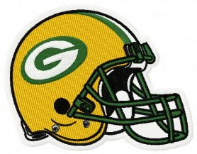 Green Bay Packers helmet machibe embroidery design